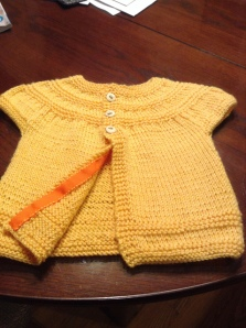 Yellow sweater finished